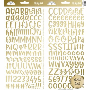 Abigail Alphabet Sticker- Gold Foil