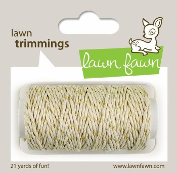 Lawn Fawn Trimmings Cord- Gold Sparkle