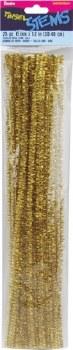 "Darice Chenille Tinsel Stems 6mm, 12""- Gold"
