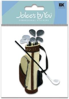 Jolee's Golf Dimensional Embellishments- Golf Clubs