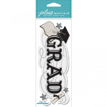 Jolee's Graduation Dimensional Title Stickers- Grad