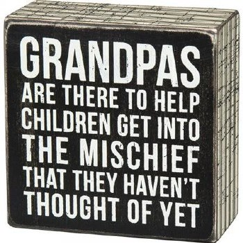 Wood Box Sign- Grandpas