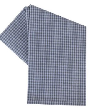 "Mini Check 20"" x 28"" Tea Towel- Gray & White"