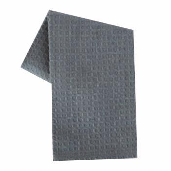 """Waffle Weave 20""""x28"""" Tea Towel- Grey"""
