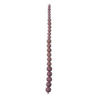 "Graduated Glass Bead Strand, 7.5""- Dusty Rose"