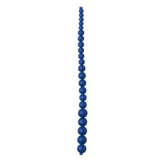 "Graduated Glass Bead Strand, 7.5""- Blue"