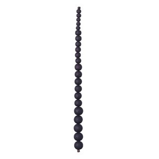 "Graduated Glass Bead Strand, 7.5""- Black"