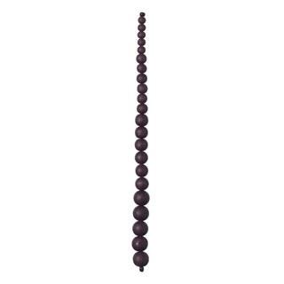 "Graduated Glass Bead Strand, 7.5""- Deep Plum"