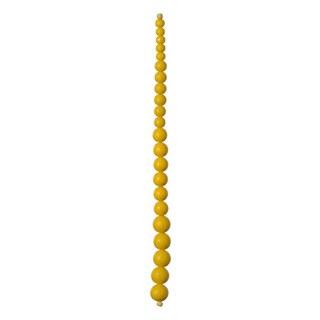 "Graduated Glass Bead Strand, 7.5""- Yellow"
