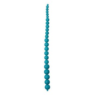 "Graduated Glass Bead Strand, 7.5""- Turquoise"