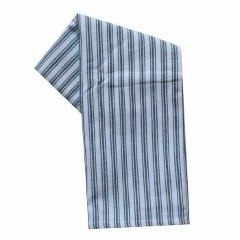 "Ticking Stripe 20""x28"" Tea Towel- Green"