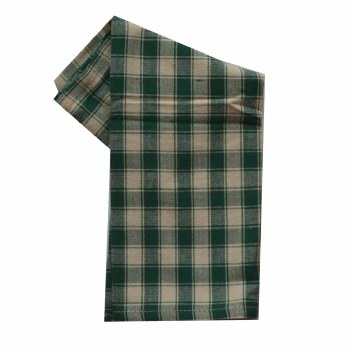 "House Check 20""x28"" Tea Towel- Teadye & Green"