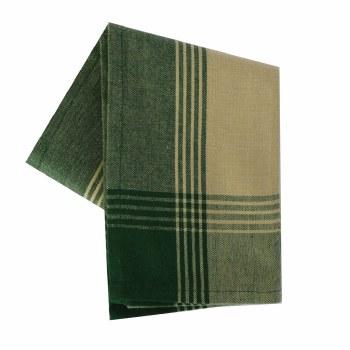 "McLeod Stripe 20""x28"" Tea Towel- Teadye & Green"