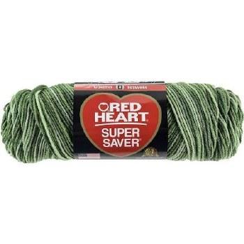 Red Heart Super Saver Yarn, Mulit-Color- Green Tones
