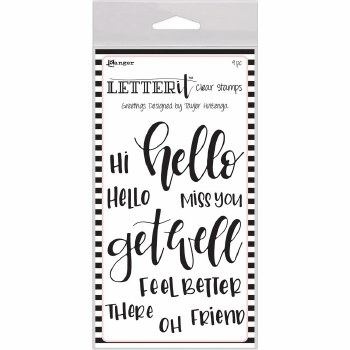 Letter-It Clear Stamps- Greetings