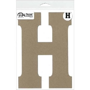 "8"" Chipboard Letter- H"