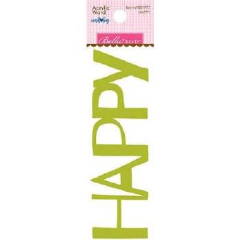 Acrylic Word- Happy