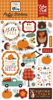 Happy Fall Stickers- Puffy