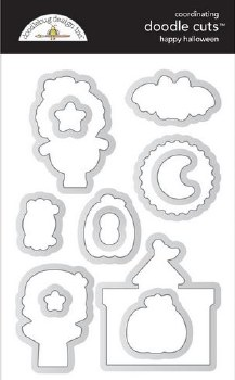 Candy Carnvial Stamps/Dies- Happy Halloween Doodle Cuts