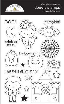 Candy Carnvial Stamps/Dies- Happy Halloween Doodle Stamps
