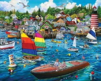 Harbor Fun - 1,000 Piece Puzzle