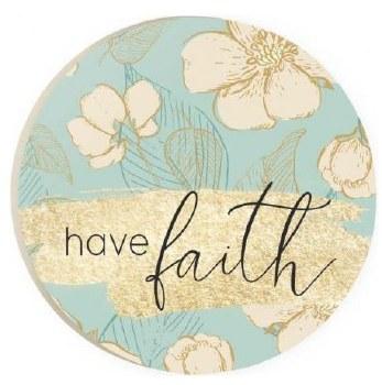 Car Coaster- Have Faith Floral