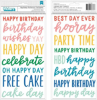Cake Day Stickers- Phrase Puffy Thickers