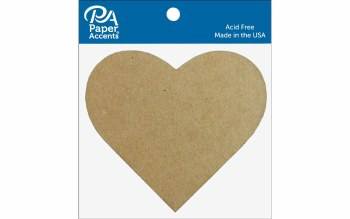 Paper Accents Chipboard- Heart 8ct