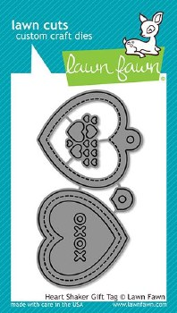 Lawn Fawn Craft Dies- Heart Shaker Gift Tags