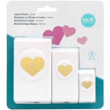 Nesting Punches, 3pk- Hearts