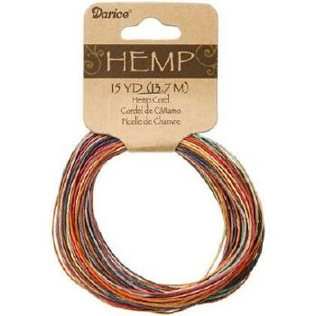 Variegated Hemp Cord, 15yds- Rainbow
