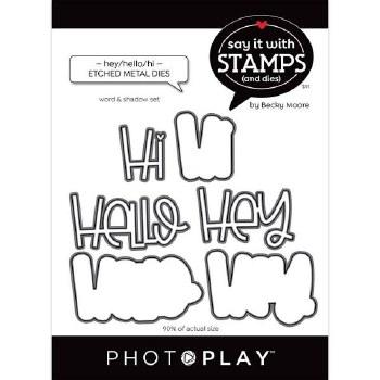 Say It in Stamps Hey Hello Hi Metal Dies