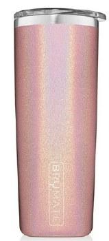 Highball Tumbler 12oz- Glitter Blush