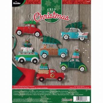 Bucilla Felt Ornament Kit- Holiday Shopping Spree