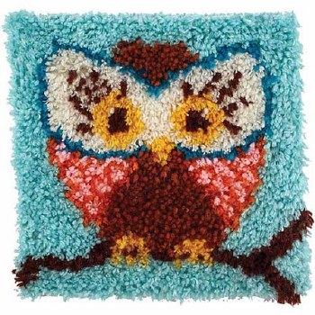 Latch Hook 12x12 Kit- Hoot Hoot