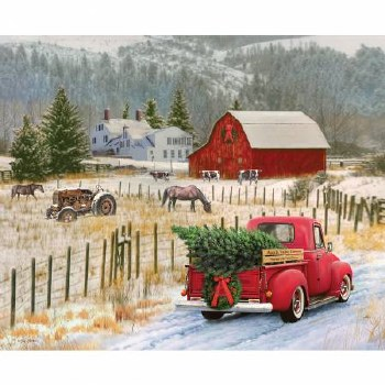 Christmas & Winter Fabric Panel- Christmas Memories: Country Christmas