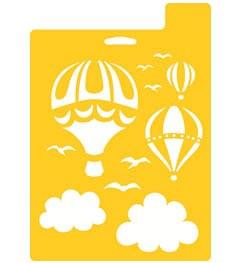 Stencil Mania 7x10 Stencil- Hot Air Balloons