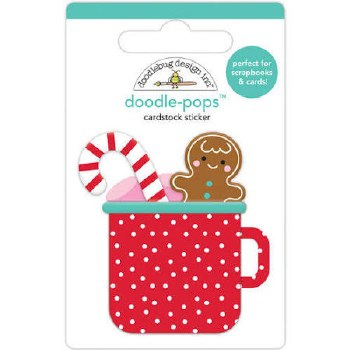 Christmas Magic Stickers, Doodle-Pops- Hot Cocoa