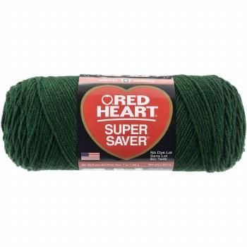 Red Heart Super Saver Yarn- Hunter Green