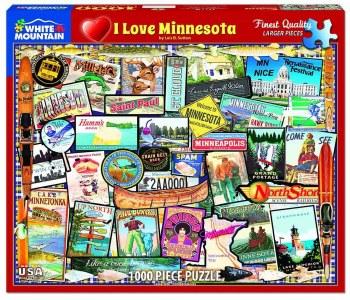 I Love Minnesota - 1000 piece puzzle