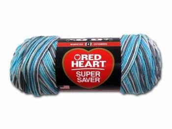Red Heart Super Saver Yarn, Mulit-Color- Icelandic