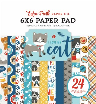 I Love My Cat 6x6 Paper Pad