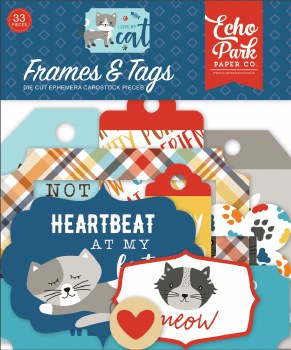 I Love My Cat Ephemera Die Cuts- Frames & Tags