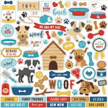 I Love My Dog Sticker Sheet