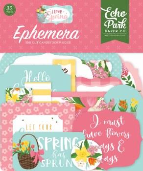 I Love Spring Ephemera Die Cuts