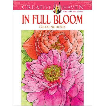 Creative Haven Adult Coloring Book- In Full Bloom