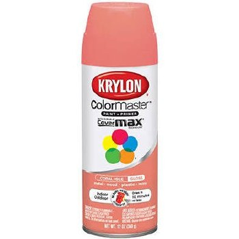 Krylon Indoor/Outdoor 12oz Spray Paint- Gloss, Coral Isle
