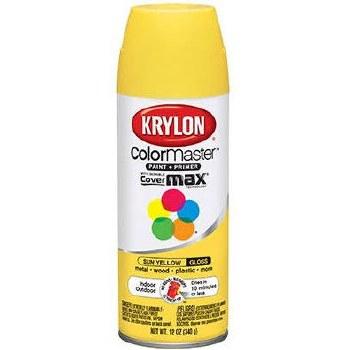 Krylon Indoor/Outdoor 12oz Spray Paint- Gloss, Sun Yellow