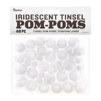 Tinsel Pom-Poms- Iridescent