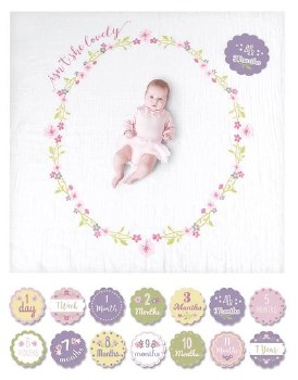 Baby's 1st Year Blanket & Card Set- Isn't She Lovely